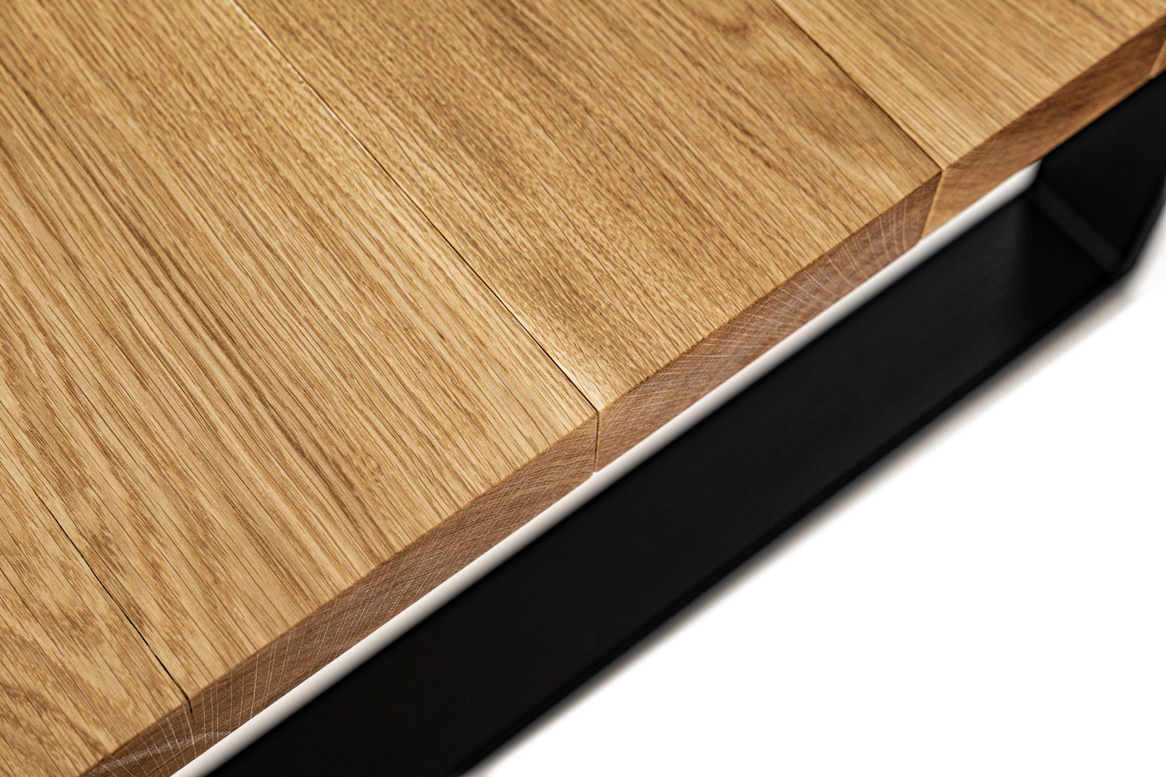 OPA ERWIN Esstisch No. 1 aus Mondholz Eiche 4,5cm Massivholzplatte Detail-2